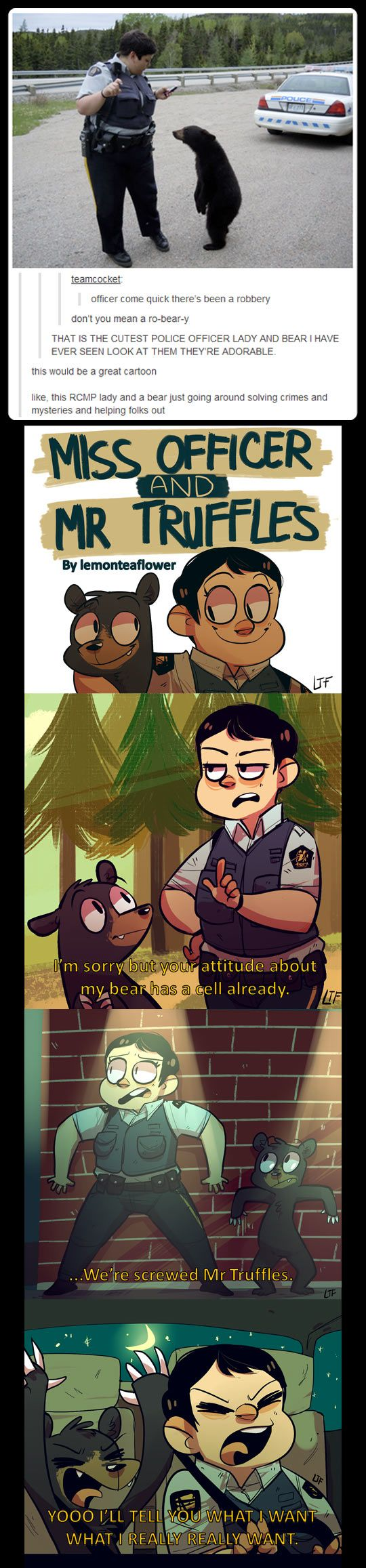 Miss Officer and Mr Truffles. I pinned this before, but I just