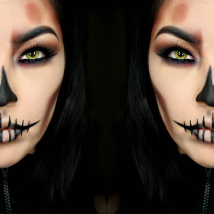 Skull Makeup  Halloween Makeup by @muartistlaurennicole  #skull #halloween #halloweenmakeup #skullmakeup