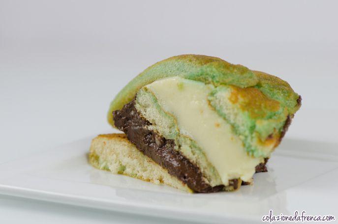 """Zuppa Inglese Verde - Nome d'arte: """"Tricolore della Freschezza"""" Ritrova la ricetta qui: http://www.colazionedafrenca.com/ricette/zuppa-inglese-verde/"""