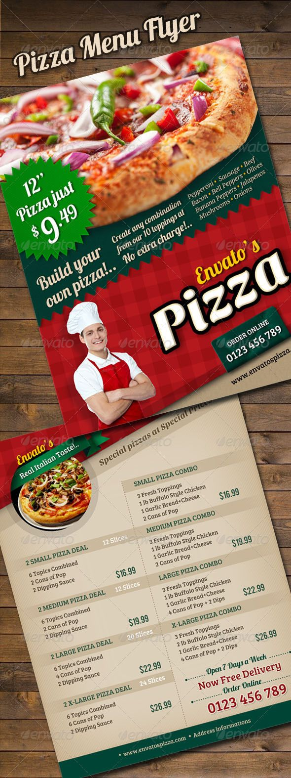 best images about mockup restaurant psd pizza menu flyer