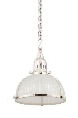 Hampton style silver single kitchen pendant ( via Hamptons Style)