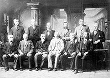 The jury before whom Lizzie Borden was tried.