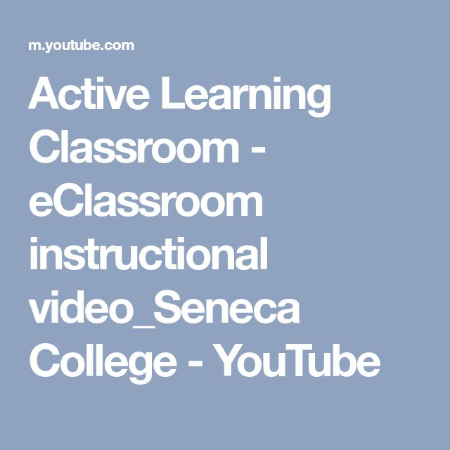 Active Learning Classroom - eClassroom instructional video_Seneca College - YouTube
