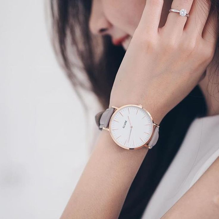 CLUSE Grey + Rose Gold Watch