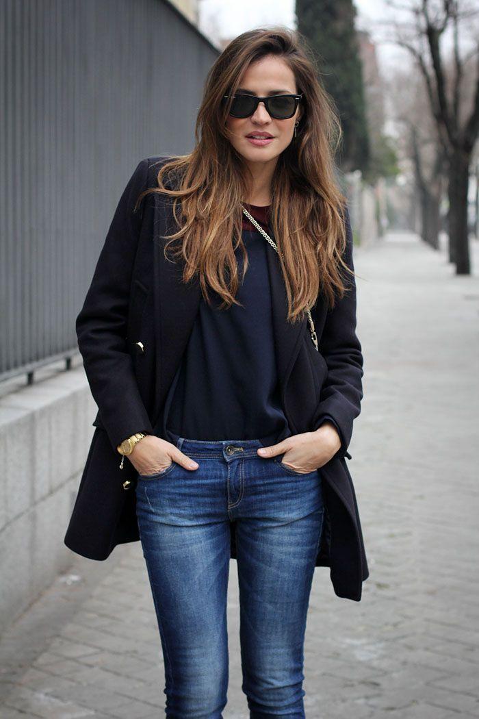 Look navy - Gafas de sol Rayban Wayfarer - Rayban Wayfarer sunglasses - Bloggers - Lady