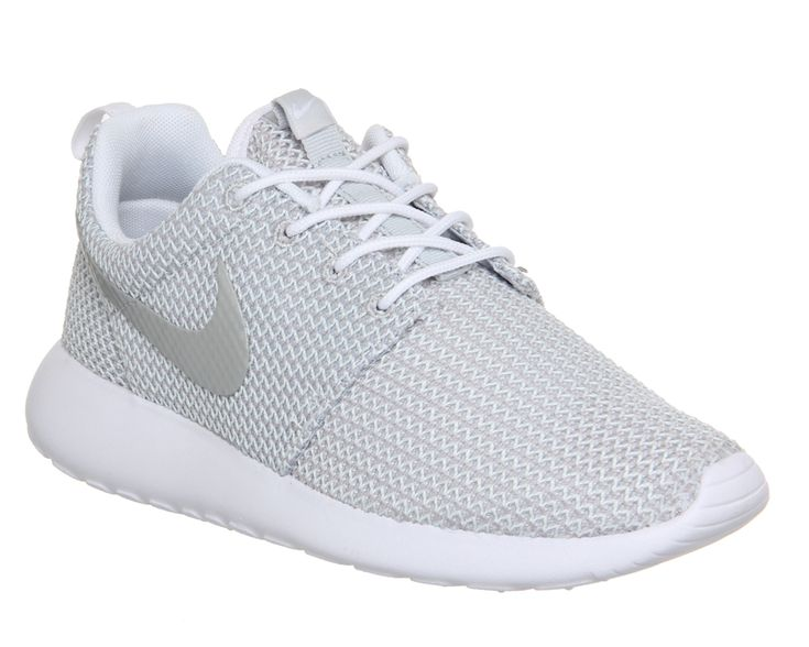 sports shoes 0efa0 01f02 ... norway nike roshe run white metallic white unisex sports d70e0 c7d81