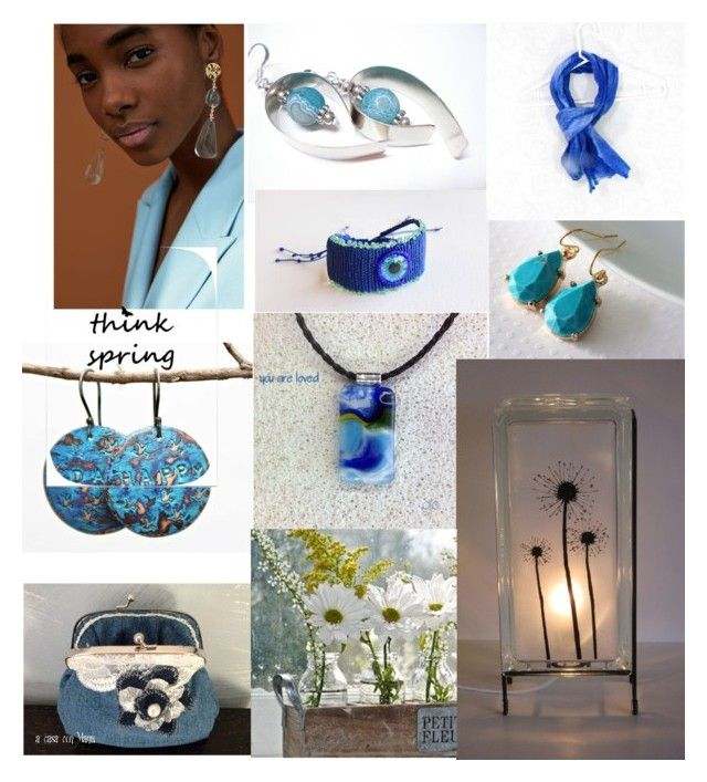 Blue on Blue by glowblocks on Polyvore featuring rustic