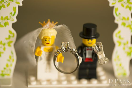 Cute lego inspired engagement ring proposal captured by DPARKPHOTOGRAPHY