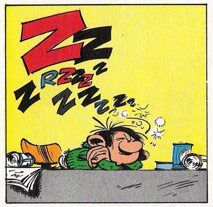 """En plein travail ! ^^ Gaston Lagaffe, personnage de fiction créé par André Franquin dans le magazine de bande dessinée """"Le Journal de Spirou"""" en 1957, puis en album dans la série Gaston à partir de 1960. C'est l'anti-héros par excellence."""