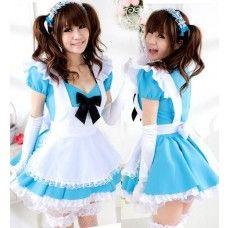 $25.49  Sweet Lolita Maid Costume VOCALOID Hatsune Miku Cosplay Uniform Dress