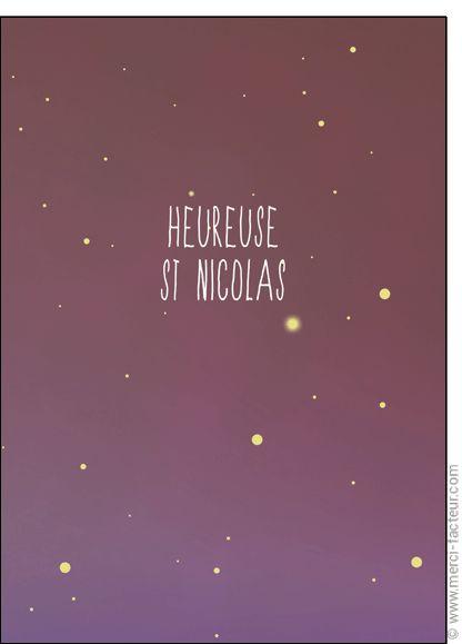#Carte #SaintNicolas #stNicolas Carte Heureuse St Nicolas �toil�e pour envoyer par La Poste, sur Merci-Facteur !