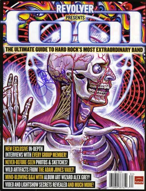Danny Carey Tool Signed Revolver Magazine Certified Authentic
