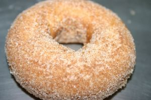 Low-Fat Baked Donut Recipe - Delicious!  I have to try making these for my hubby!  I am going to try switching the flour up a bit to make it even healthier.  Haha, health donuts!