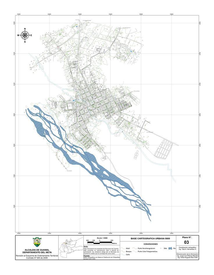 imagen de mapa de Municipio de Guamal, Base Cartográfica Urbana
