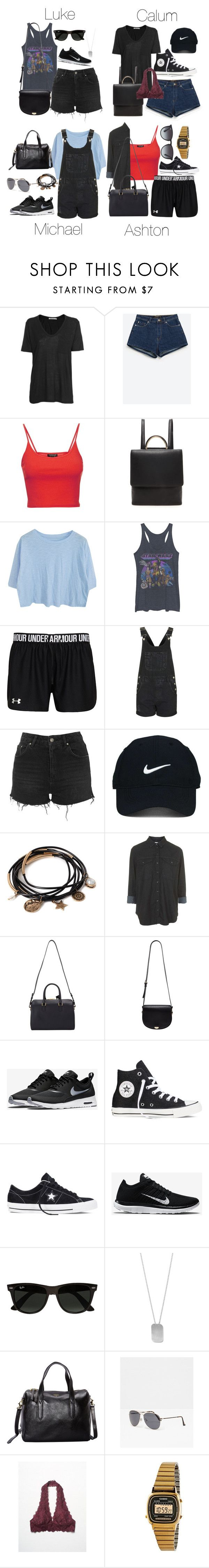 """""""Amusement Park Outfits (Spring/Summer)"""" by fivesecondsofinspiration ❤ liked on Polyvore featuring T By Alexander Wang, Zara, Topshop, Forever 21, Nike Golf, Yves Saint Laurent, NIKE, Converse, Ray-Ban and BillyTheTree"""