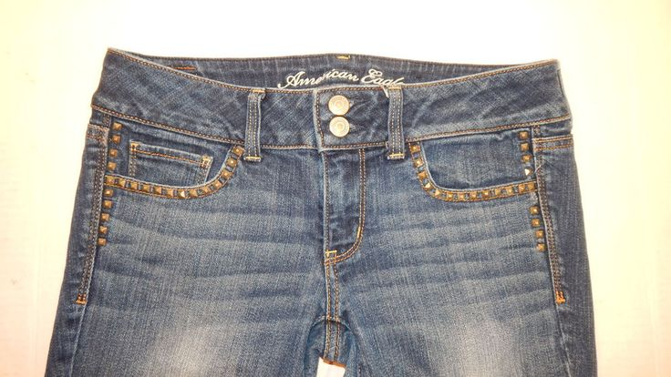 AEO Ameican Eagle Artist Studded Stretch Capri Size 6 (29x25) Sexy Low Rise…