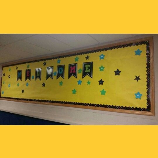 First month of school, stars with classmates names on it.