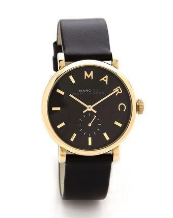 Marc by Marc Jacobs(マークバイマークジェイコブス) デジタル腕時計 【送料関税込】 マークバイ ■ Leather Baker Watch / Black