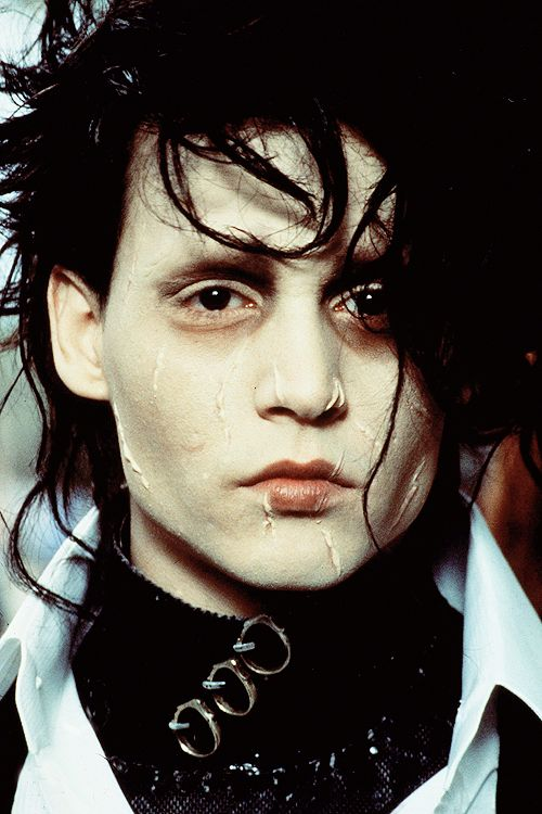 Johnny Depp as Edward in Tim Burton's Edward Scissorhands, 1990.