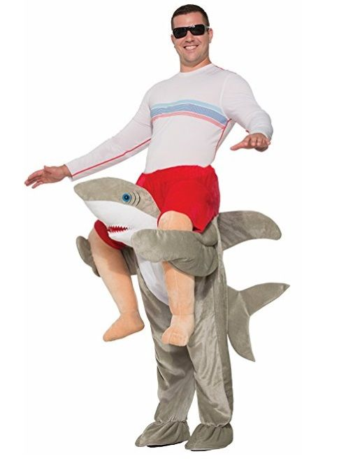 Mens Ladies Grey Shark Bite Animal Funny Festival Fancy Dress Costume Outfit Hat