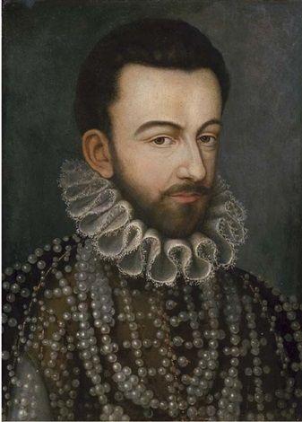 Ritratto di re Enrico III, a mezzo busto, in abito ricamato di perle by François Quesnel