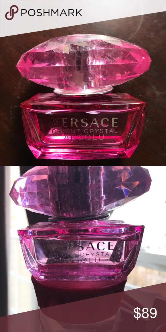 Versace bright crystal absolu ❤️. Almost brand new. Almost full bottle. 1.7oz 50ml bottle versace Other