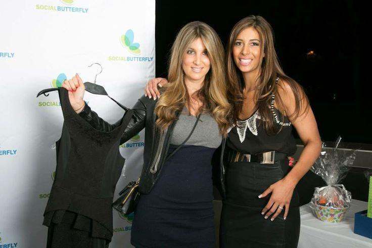 www.celebritygifting.co.za Taryn Treisman with #LisaKoppel. #celebritygifting #socialbutterfly #beautiful #dresses #woman