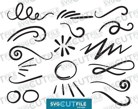 Swoosh Svg Or Swish Png Squiggle Word Endings Swash Underline Dxf Swishy Curly Curls Or Swirly Swirl Swishes Swashes Swooshes Ornaments Squiggles Svg Etsy