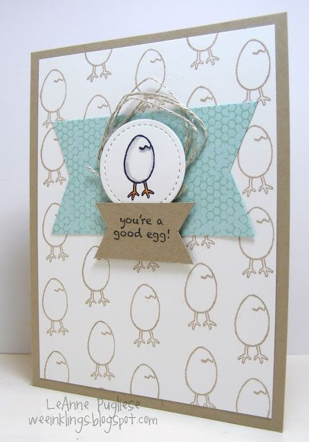 Hi peeps! Winding down the week....hope it's been a good one! I have a few cards I've made with the SAB set Hey, Chick....what a fun ...