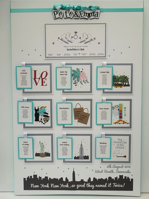We are doing this @Jenna Nelson Nelson Nelson Webb ,Themed - New York - Table Plan 1 by Bunny Delicious