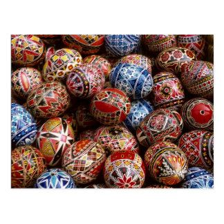 Traditional Romanian easter eggs Postcard