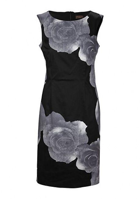 Formelle Brautkleid, elegantes Kleid mit grauer Leinwand mit großen Rosen s.Oliver Frühjahr Sommer Kollektion 2013 | AlleKleider24.de