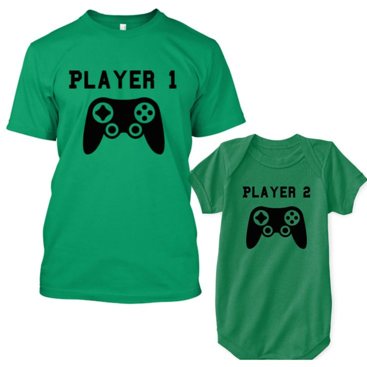Father Son Matching Shirts, Gifts for Dad From Baby, Player 1 Player 2 Matching Shirts, Father's Day Outfit For Baby Boy or Baby Girl by PhunnieWunsies on Etsy