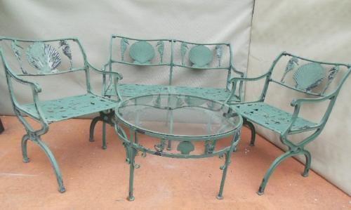 Vintage Molla Shell & Sea Horse 4 piece set   Joan Bogart    *price upon request* joanbogart.com