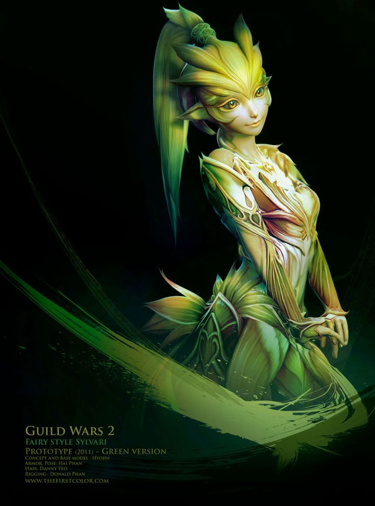 Guild Wars 2 Anime Characters : Fairy style sylvari guild wars art