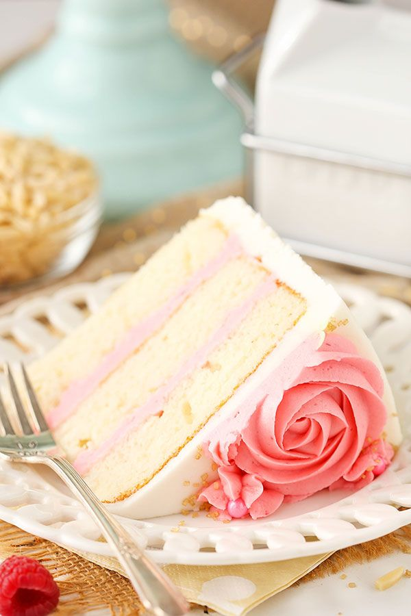 Raspberry almond layer cake recipe