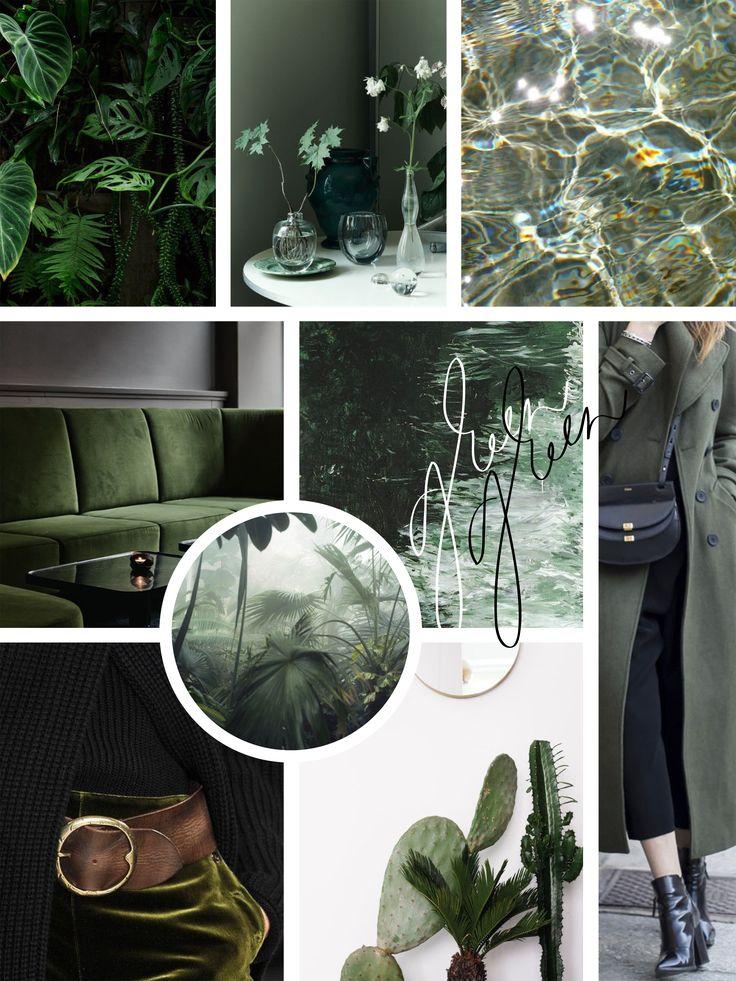Moodboard: Dark green colored favorites and calligraphy by Annika Välimäki Creative