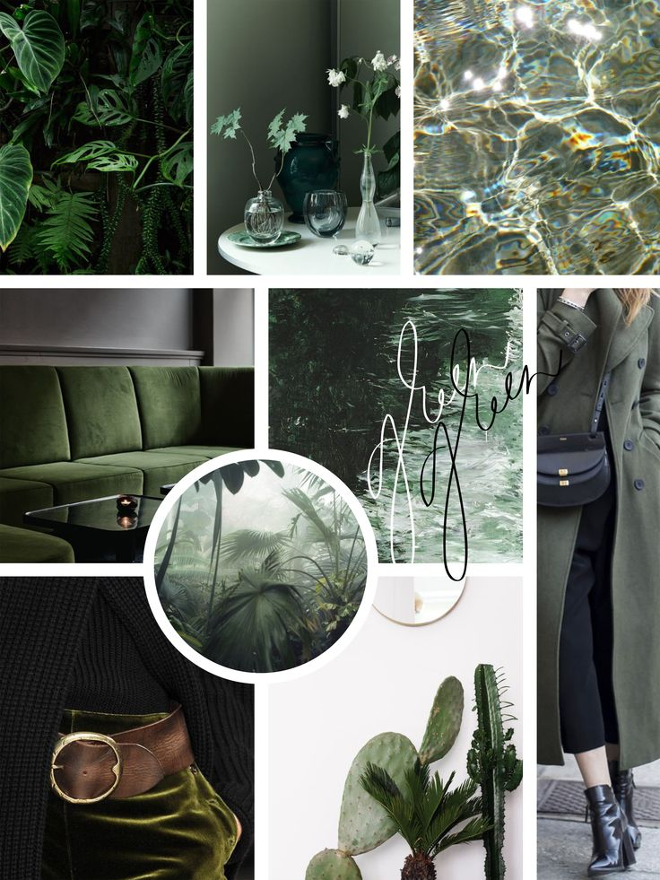 Moodboard: Dark green colored favorites and calligraphy by Annika Välimäki Creative