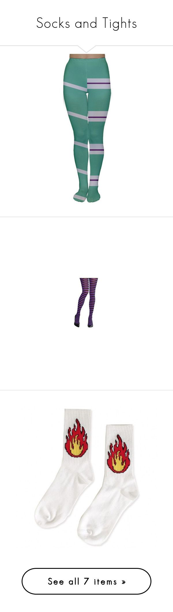 Fashion look from june 2014 featuring thigh high hosiery purple -  Socks And Tights By Gabbyortega Liked On Polyvore Featuring Leggings Silver