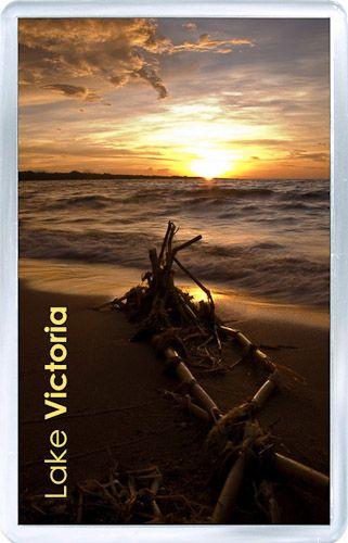 $3.29 - Acrylic Fridge Magnet: Tanzania. Sunset at Victoria Lake