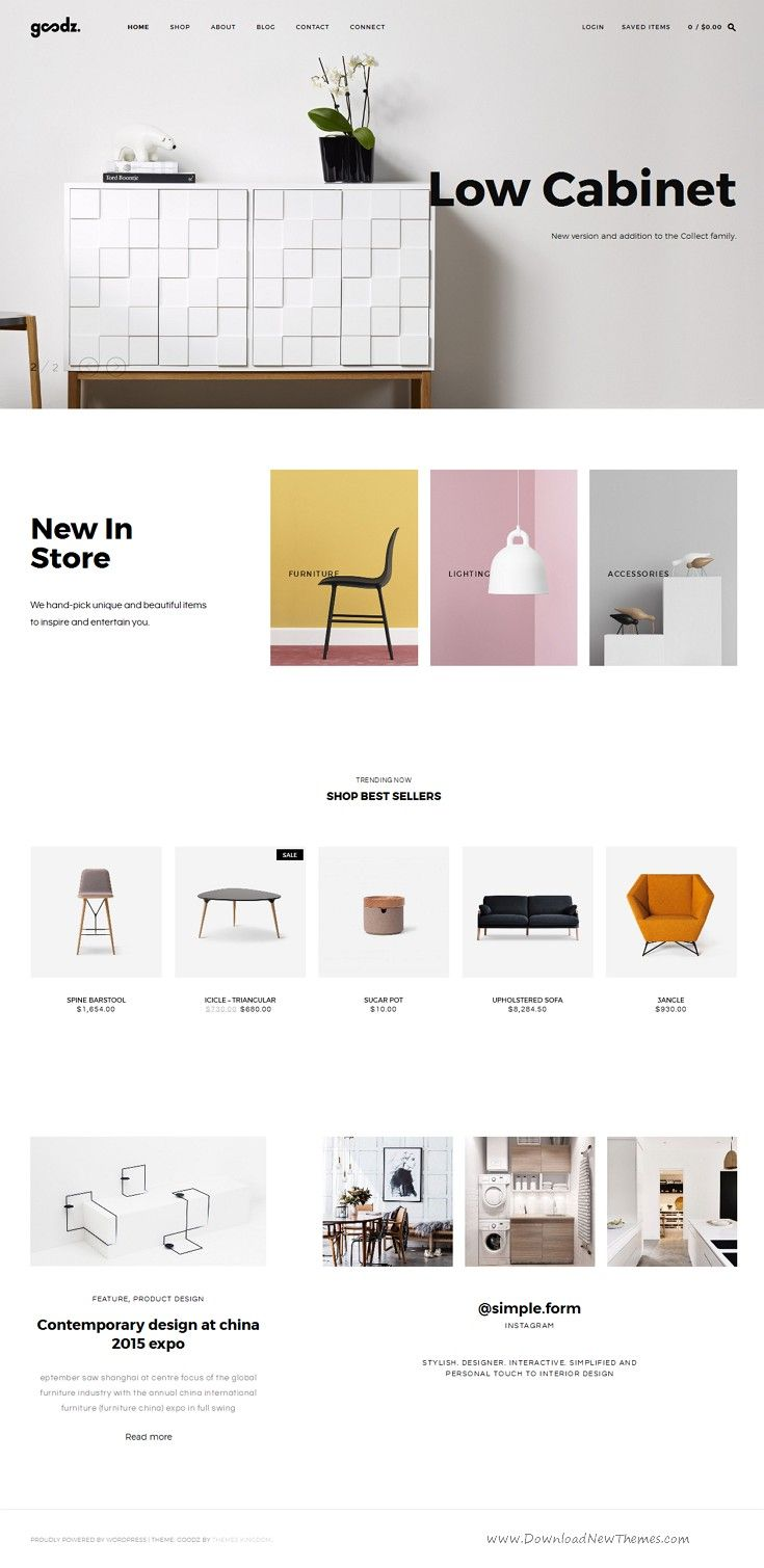 Goodz Shop is beautiful WordPress Theme for multipurpose eCommerce #website…