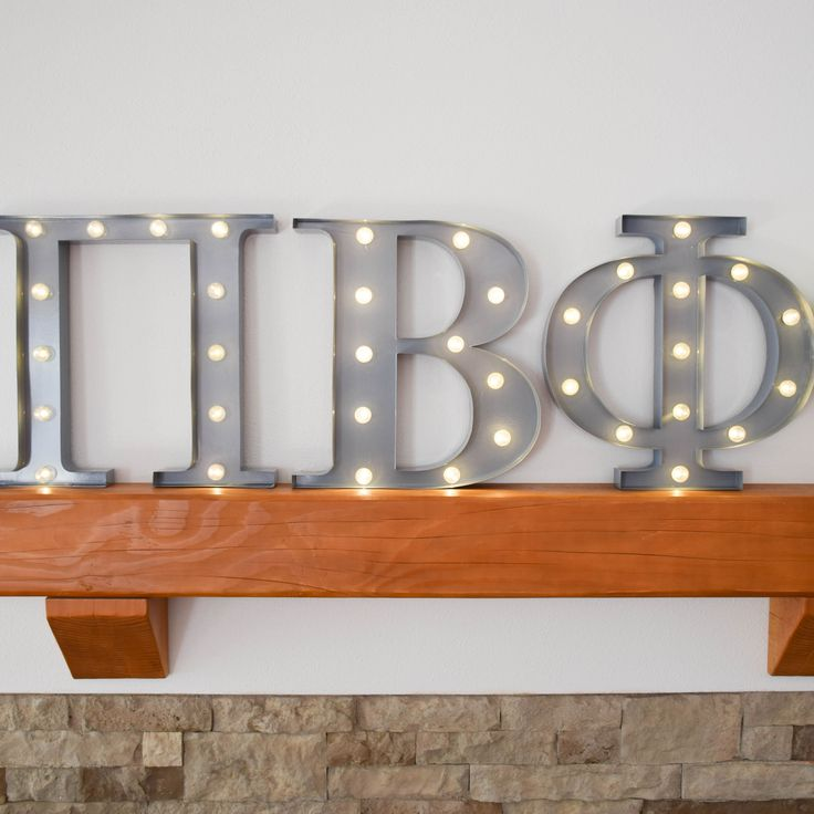 Pi Beta Phi sorority marquee letter lights - the perfect decoration for every house, dorm or recruitment room! www.alistgreek.com