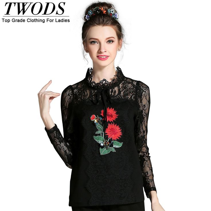 L- 5XL Flowers Embroidery Lace Blouse Top Femme Autumn Runway Long Sleeve Shirts Black Blusas Mujer Like if you remember http://www.artifashion.net/product/l-5xl-flowers-embroidery-lace-blouse-top-femme-autumn-runway-long-sleeve-shirts-black-blusas-mujer/ #shop #beauty #Woman's fashion #Products