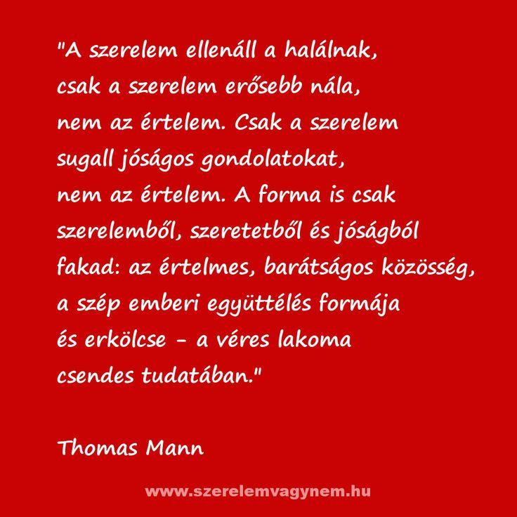 Thomas Mann Szerelmes idézet.