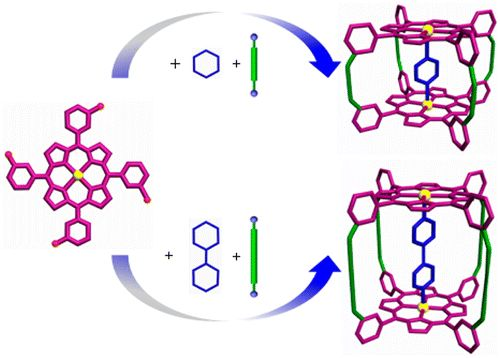 Controllable Synthesis of Covalent Porphyrinic Cages with Varying Sizes via Template-Directed Imine Condensation Reactions