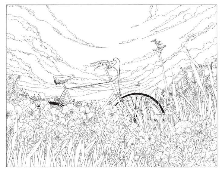 Shan Jiang Vuelan las ballenas, barcos navegan a través de campos de maíz, las vacas flotan y casualmente aparece  un curioso gato en cada escena; entramos  en el vertiginoso Viaje en bicicleta al fin del mundo.  Explora los fantásticos paisajes habitados por las más variadas bicicletas, pinta las ilustraciones increíblemente detalladas y anima las aventuras  del gato que encontrarás en el reverso de cada hoja pasando rápidamente las páginas.  Bicicletas, fixies, tándems y triciclos son…