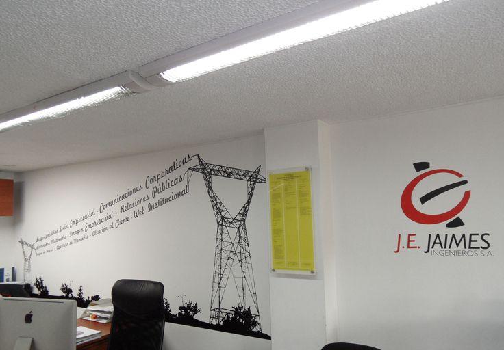 Tu empresa como te gusta!!! Diseños para identificar las diferentes areas de tu empresa. JE. Jaimes En Bogotá tel. 3176746222 - 4060080 contactanos@gfdecoraciones.com