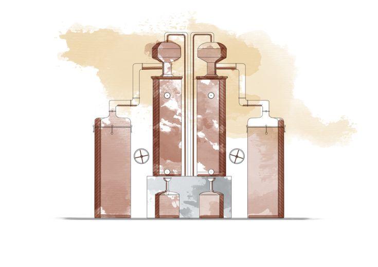 O Licor Beirão é obtido à base de uma dupla destilação feita em alambiques de cobre. Nestes alambiques, separam-se as substâncias que têm diferentes pontos de ebulição e obtém-se o alcoolato, a 72% Alc. Vol.