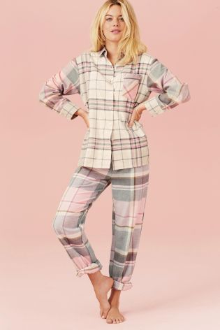 Pink Check Flannel Pyjamas http://bit.ly/1Pw4LLL