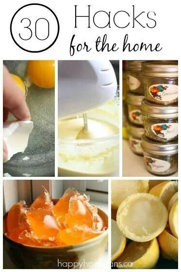 30 hacks for the home